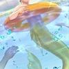 【ポストカード】プールに人魚君✨