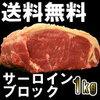 BBQ・焼肉・【送料無料】サーロインブ  ロック1kg!