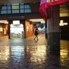 東京都世田谷区三軒茶屋『雨の東急世田谷線三軒茶屋駅』