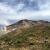 初冠雪前の旭岳(2291m)と旭岳温泉♨