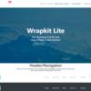 使いやすくクオリティの高い無料HTMLテンプレート:Wrapkit Lite