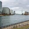 街の風景:隅田川から豊洲運河へと回り込んで