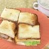 サンドイッチのランチ