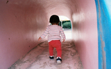 Girl in the tunnel