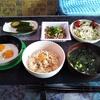 車中飯にロウカット玄米を採用して初めての朝食と五郎兵衛米