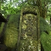 面長な青面金剛像がきざまれる庚申塔 大分県豊後高田市加礼川