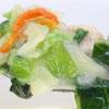 写真の通り野菜が多く鍋の出汁にもできる 内容量20.5g 炭水化物13g おどろき野菜1食分の野菜 まろやか味噌の豆乳鍋 アサヒグループ食品