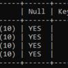 XamppでインストールしたMySQLでテーブルを作った。