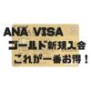 ANA VISA ワイドゴールドカード最もお得な新規入会キャンペーン【2018年12月最新版】