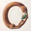 水彩画「Otter / Ocarinist(改訂)」