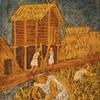 日本の古代史の黒板画