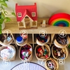 【1歳と3歳育児】引っ越し完了、リビングのおもちゃコーナー