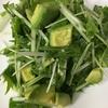 「香りソルト」レモンペパーミックスで作る、水菜とアボカドのサラダ