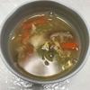 水曜日、レタスチャーハンと中華風、野菜卵とじ、スープを作る(^-^)🎵
