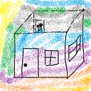 屋根のない家