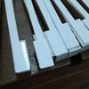 鍵盤(白鍵)の張り替え  ②