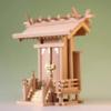 尾州桧で作る神棚 神明一社 中型サイズ 神棚の祭り例
