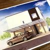 【家を建てよう】外観の提案図