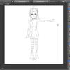 【Blender】【キャラクター制作】下絵の表示