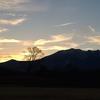 夕焼けと御嶽山(御岳山)・2020年12月09日