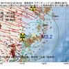 2017年10月12日 02時45分 福島県沖でM3.2の地震