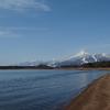 磐梯山と猪苗代湖 4月10日