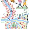大阪_イラストマップ_女性のイラスト