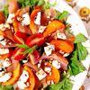 鶏生ハムと柿のバルサミコサラダ