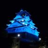 世界糖尿病デー、大阪城ブルーライトアップ!