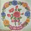 【背景編】ダイソー塗り絵「花の国」を赤・青・黄の3色で塗ってみた。