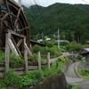十津川村谷瀬地区の集落