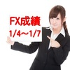 ビッコインFX成績公開(1/4~1/7)bitFlyerFX
