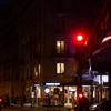 フランス パリのトランジットで 19 パリの夜の街角