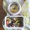 コンロを使わないお弁当|もち麦入り野菜マリネとわかめスープ