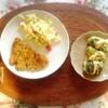ミラノ風カツレツ、マカロニサラダ、味噌ロールキャベツ