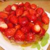 6歳の誕生日おめでとう!!もりもりいちごのゼリーケーキ♡