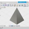Fusion360で4角錐をつくる