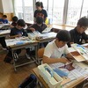 6年生:図工 校舎を描く