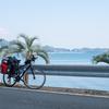 自転車(クロスバイク)でキャンプツーリング DOD バッグインベッドを使う!焚き火とアウトドア鉄板でお好み焼き/渚園キャンプ場