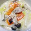 楽レシピ!志乃にも30分で美味しくできた【白菜・きのこ・鶏肉のクリーム煮】