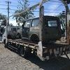 静岡市からタイヤの付いて無い不動車をレッカー車で廃車の出張引き取りしました。