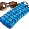 2色松編みのサングラスケース