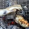 生食用の牡蠣を炭火で炙って半生状態の牡蠣をそのまま頂く。旨味の大爆発。