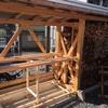樫(アラカシ)の引越し&薪棚改造
