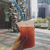 寝坊した朝は:オフィス街のジューススタンドへ@Arcade Fruits / My favorite Fruits-Juice stand at CBD