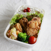 鶏唐揚げお弁当 と スイートポテト