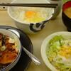 松屋の牛味噌煮込み豆腐定食