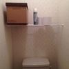 狭い賃貸のトイレに突っ張り棒で棚を作成!