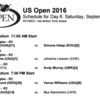 全米オープンテニス2016 9/3WOWOW放送カードと見どころ!錦織と日比野が登場