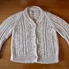 模様編みのカーディガン、完成しました!